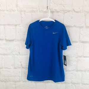 Boys The Nike Tee Dri Fit Short Sleeve T Shirt H20